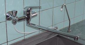 Detail připojení ventilu ve školní kuchyni